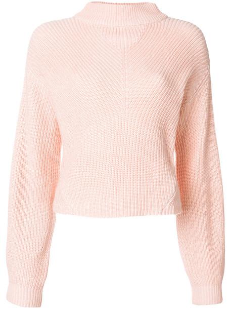 Ck Jeans jumper women cotton purple knit pink sweater
