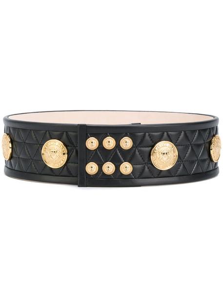 Balmain women belt waist belt leather black