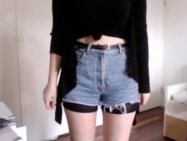 shorts black sheer under shorts