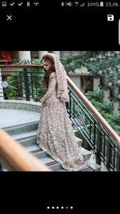 dress,brown,brown dress,wedding dress,pakistan,nikah,engagement party dress,satin,patterned dress,arabic,muslim,muslimah,muslim outfit,muslim dress,muslim wedding dresses