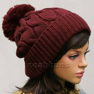 Men Women pom pom BEANIE Knit best ski snowboard Hats Crochet ... f2c6d43108