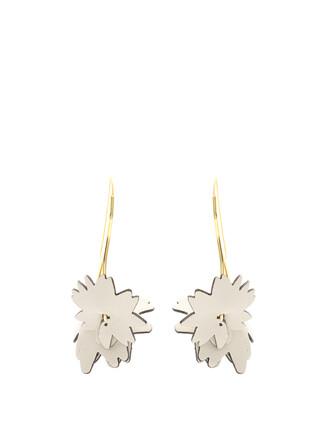 earrings leather grey jewels
