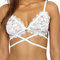 White hollow out crochet lace bralet - us$7.95 -yoins
