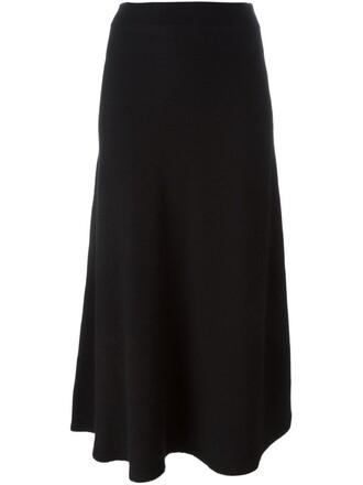 skirt midi skirt flare women midi fit black
