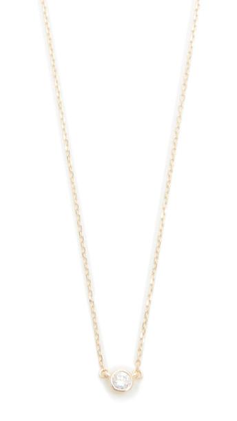 Adina Reyter Single Diamond Necklace - Gold
