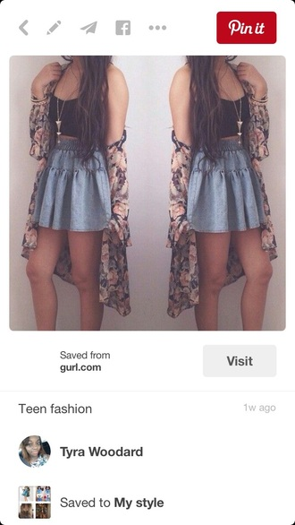 skirt cute summer outfit for teenss summer outfits denim skirt skater skirt outfit