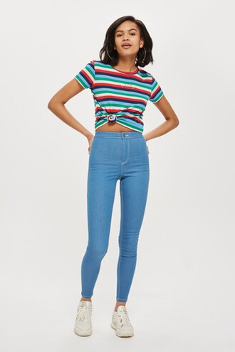 jeans fit blue bright