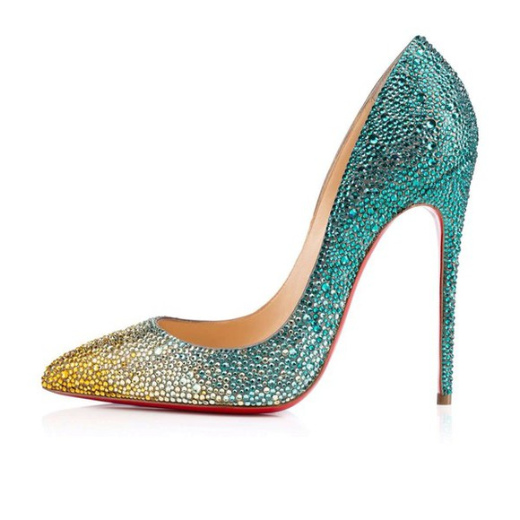 yellow shoes high heels yellow colorful blue white yellow high heels crystal high heels christian louboutin whit shoes whit crystal colorful crystal all i want crystal crystal shoes color blue high heels fashion style fansy white high heels colorful crystals