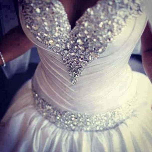 Dress wedding clothes wedding dress swarovski royal for White sparkly wedding dress