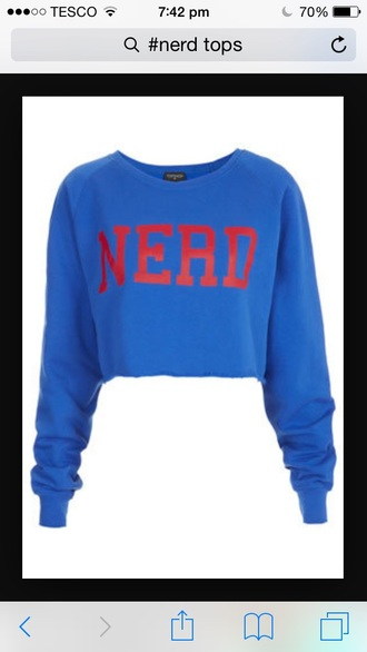 sweater nerd blue shirt cute sweaters funny sweater trendy hot