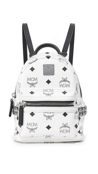 mini backpack white bag