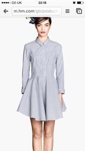 dress,striped dress,shirt,blue dress,dressy shirt,smart casual,day dress,summer outfits
