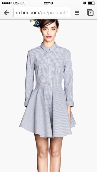 dress striped dress shirt blue dress dressy shirt smart casual day dress summer outfits