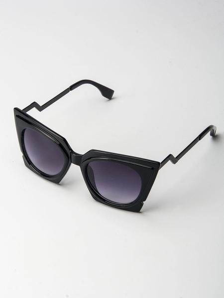 Black Chunky Cat Eye Tinted Sunglass