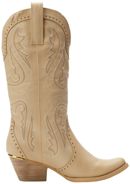 Shoes Country Style Beige Boots Cowgirl Boots Cowboy