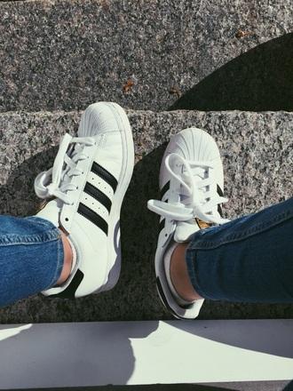 shoes adidas adidas superstars adidas shoes black white style