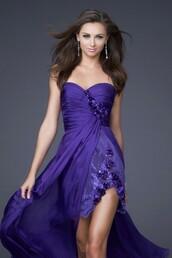 dress,asymmetrical purple cheap prom dress,cheap prom dress