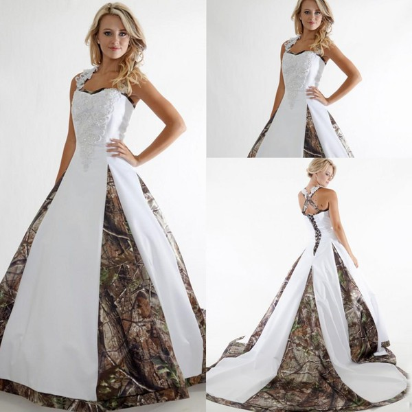 Strapless Dresses 2015 Plus Size Camo Wedding Dresses 2015 White And Camoufla