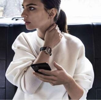jewels watch emily ratajkowski editorial smartwatch