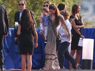 dress charlotte casiraghi long dress floral dress boho dress zara dress zara