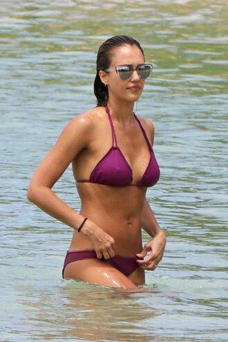 swimwear jessica alba bikini top bikini bottoms bikini sunglasses summer beach