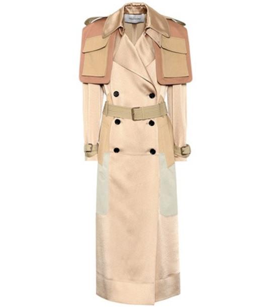 Valentino Satin-blend coat in beige / beige