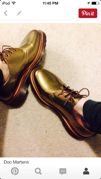 shoes drmartens metallic