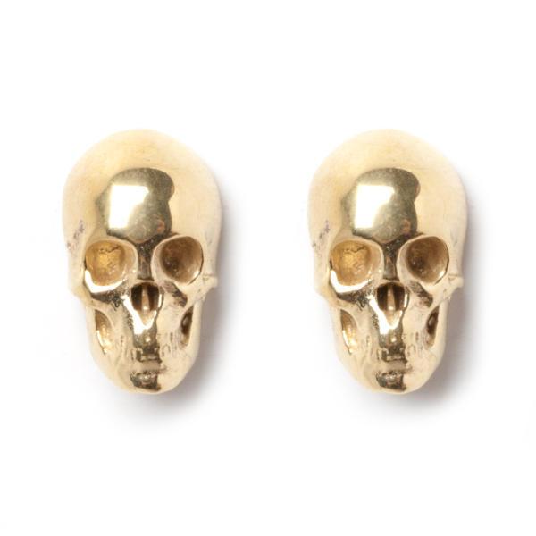 Skull Stud Earrings - Yellow | LeiVanKash