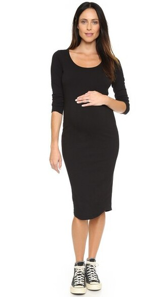 dress long sleeve dress long black