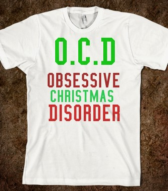 O c d obsessive christmas disorder for Holiday t shirt bags