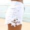 White shorts - white denim high-waist cut off | ustrendy