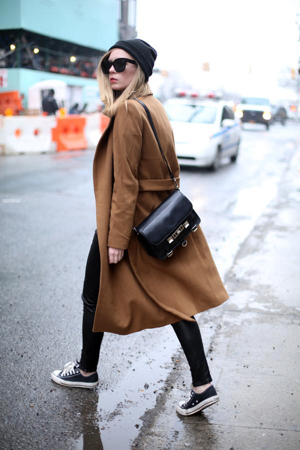 coat hat sweater pants bag shoes