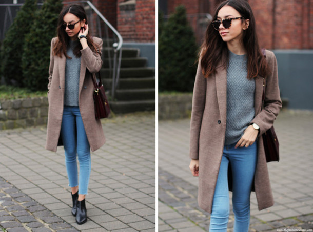 Coat: the fashion cuisine, blogger, jeans, sunglasses, winter coat ...