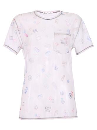 t-shirt shirt printed t-shirt beige top