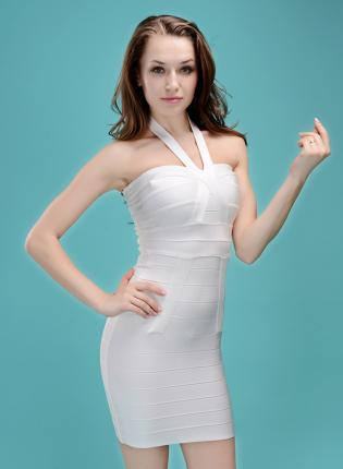 Bqueen halter waist bandage dress