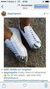 metallic shoes,superstar,adidas