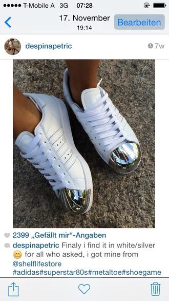 metallic shoes superstar adidas
