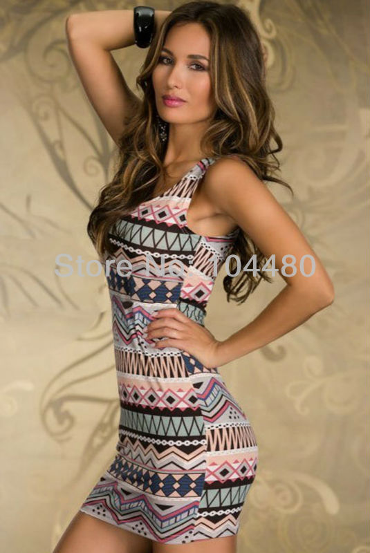 fashion 2014 women dress,women's cute vintage printed casual dress,summer sleeveless shreak sexy club party mini dresses,4 color-in Dresses from Apparel & Accessories on Aliexpress.com