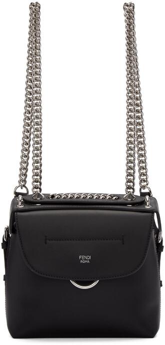mini back backpack black bag