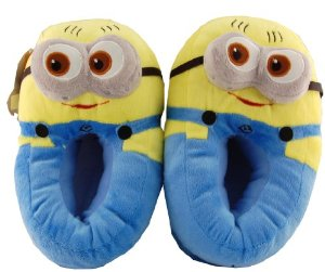 Amazon.com: Despicable Me 3d Minion Soft Warm Shoes Dave Plush Stuffed Slippers Adult Free Size: Kitchen & Dining