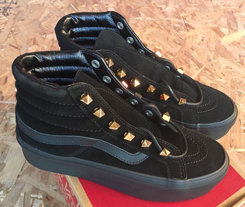 vans sk8 hi platform black high top trainers, VANS CLASSIC