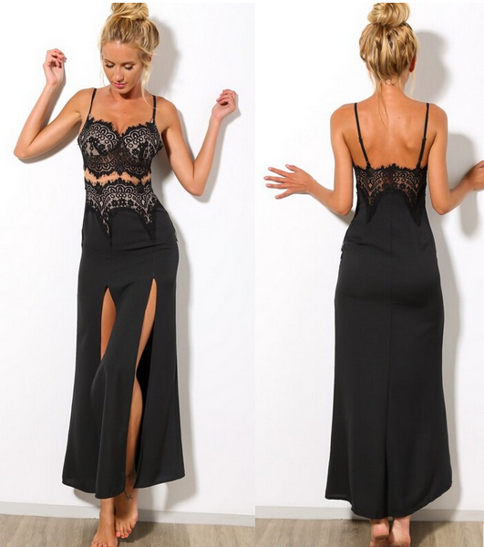 Black Tareen Lace Maxi – Dream Closet Couture
