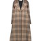 Mulberry long wool check coat | carrécouture