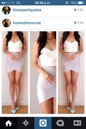 skirt,grey wrap skirt,gray wrap skirt,white crop tops,beige skirt,tight skirts half long,dress