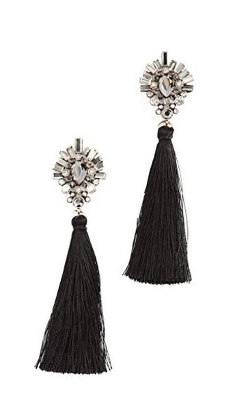 Stella + Ruby earrings black jewels