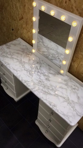 home accessory hollywood style white marble
