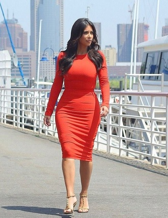 dress sexy dress beautiful kim kardashian dress kim kardashian style sexy party dresses red dress red