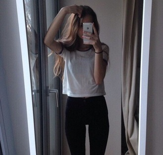 t-shirt tumblr grunge skinny jeans ringer tee high waisted skinny jeans jacket