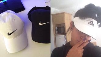 hat nike cap adidas visor nike cap nike snapback nike hat snapback adidas visor black white tumblr fashion australia