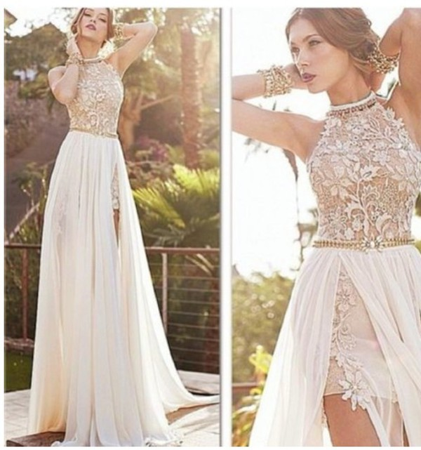 White rose gold prom dress – Dress ideas